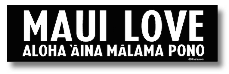 #105 Maui LOVE vinyl sticker