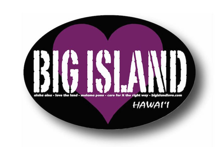 #108 Vintage Big Island Love Sticker PURPLE