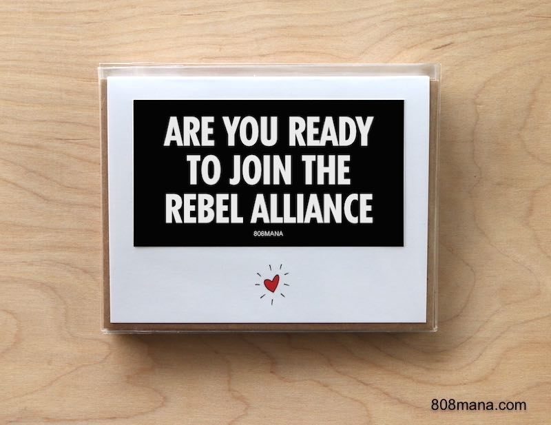 294 REBEL ALLIANCE - Greeting Card and Vinyl Sticker