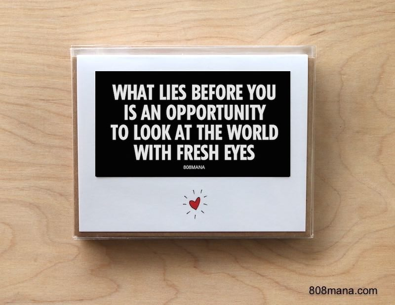 296 OPPORTUNITY - Greeting Card and Vinyl Sticker