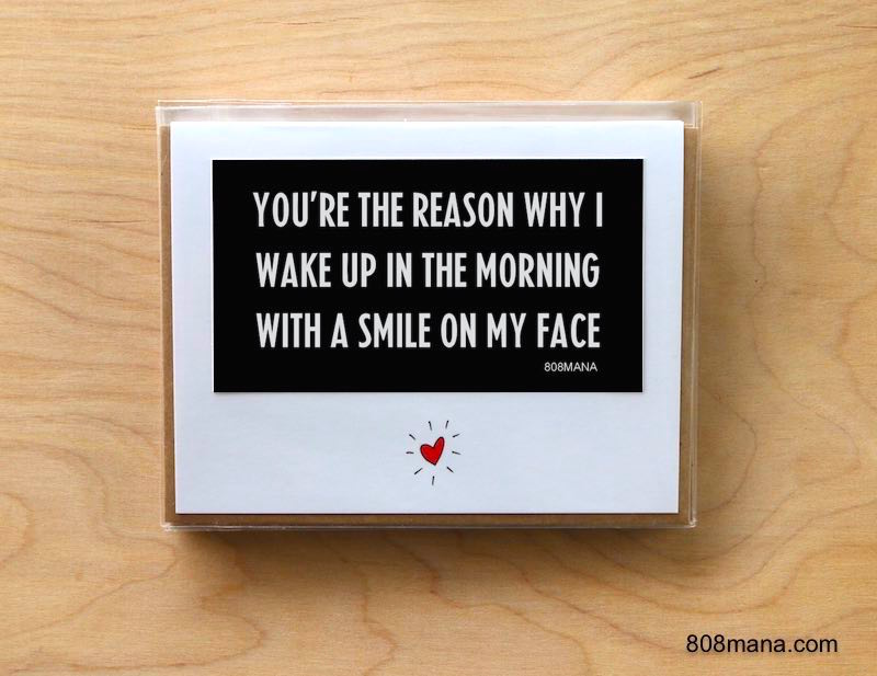 299 You Make Me Smile Greeting Card and Vinyl Sticker